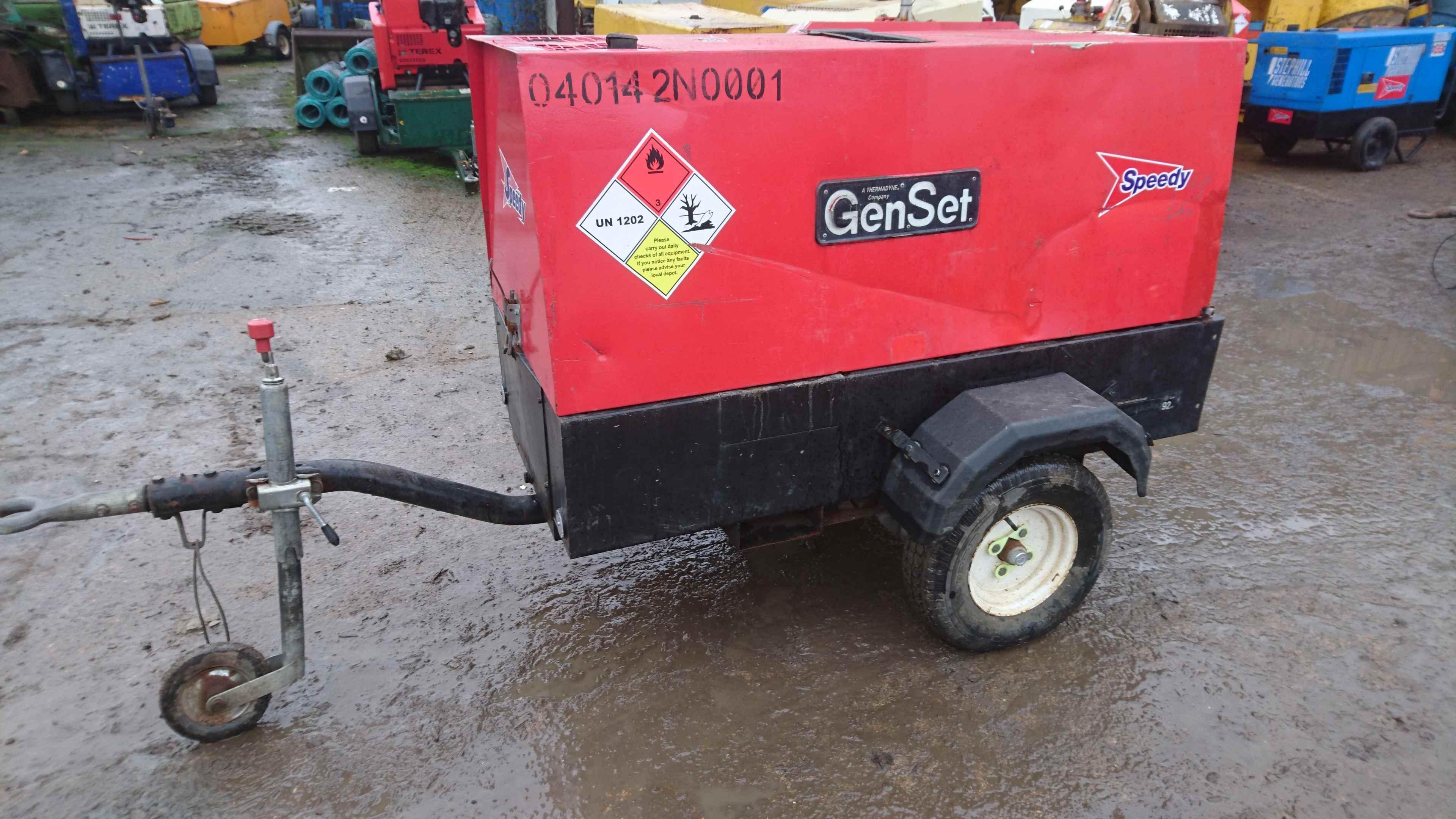 Genset MPM 12 370 SS KA Diesel Welder Generator 110v 240v 3 Phase